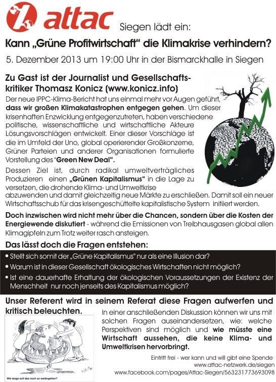 Attac-Fyler - Grüne Profitwirtschaft (05 12 13)