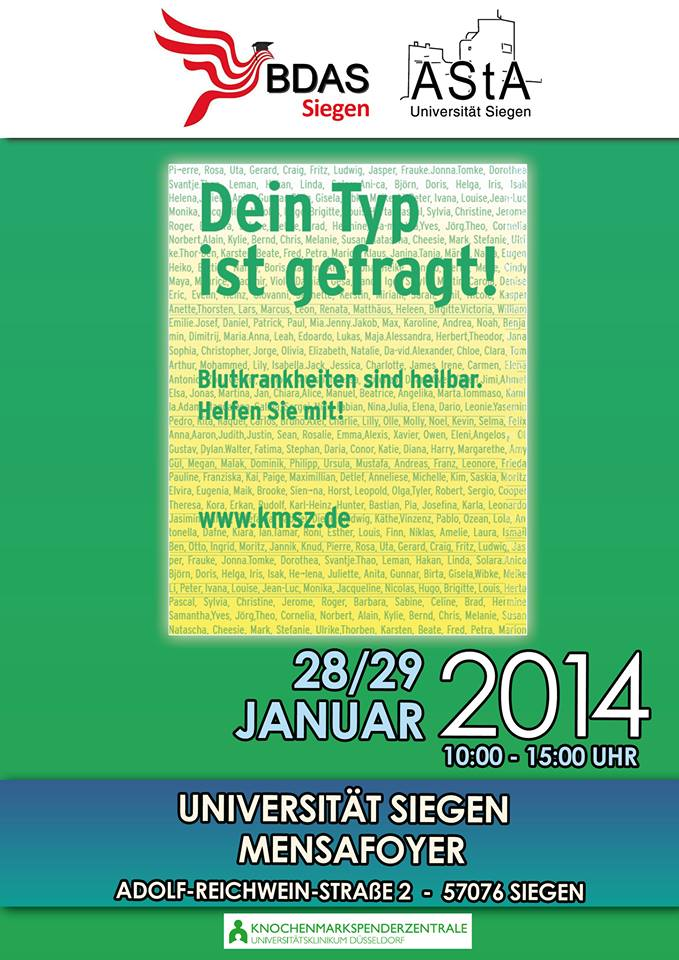 Typisierungsaktion Flyer
