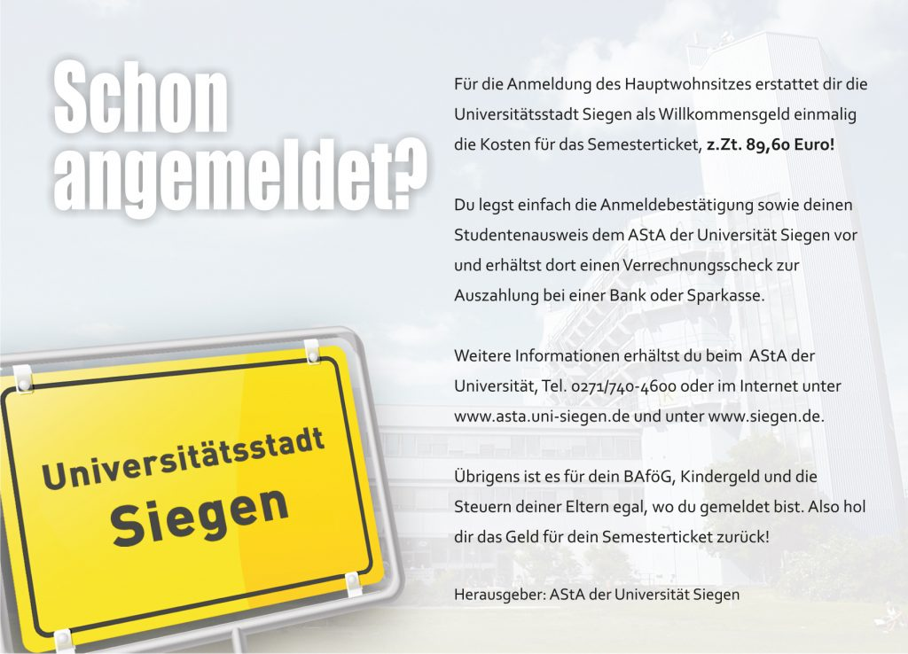 Semesterticket2014 Postkarte DIN A6